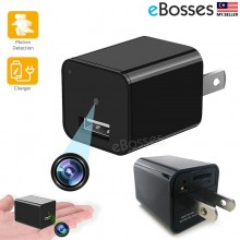 1080P Motion Detection USB Wall Charger Camera Plug Adapter Camera Loop Recording Nanny Cam Support 32GB Storage
