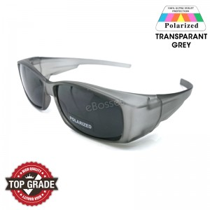 Top Grade UV Protection Flip-up Fitover Glasses Polarized Sunglasses Men Women (THC 010)