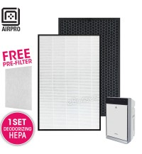 AIRPRO for Panasonic F-ZXKP70Z F-ZXFD70Z Replacement Air Purifier HEPA Deodorizing Filter for F-VXK70A
