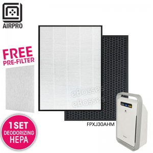 AIRPRO for Panasonic FZXJP30Z FZXJD30Z Replacement Air Purifier HEPA Deodorizing Filter for FPXJ30AHM
