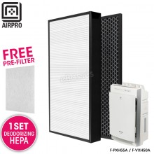 AIRPRO for Panasonic F-ZXHP55Z F-ZXHD55Z Replacement Air Purifier HEPA Composite + Activated Carbon Filter for F-PXH55A / F-VXH50A