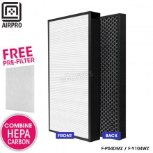 AIRPRO for Panasonic Replacement Combine Air Purifier HEPA Composite + Activated Carbon Filter for F-P04DMZ F-Y104WZ