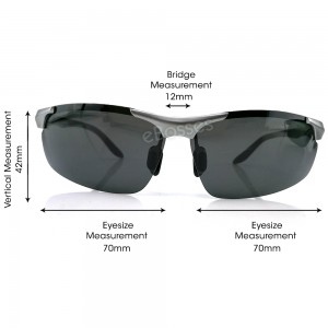 Zerox Top Quality Aluminium UV400 Polarized Sunglasses Men Women TY471+ Cloth + Casing