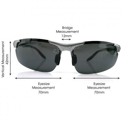 Zerox Top Quality Aluminium UV400 Polarized Sunglasses Men Women TY471+ Cloth + Casing