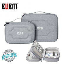 BUBM Electronic Organizer, Hard Shell Travel Gadget Case with Handle for Cables, USB Drives, Power Bank and More, Fit for iPad Mini