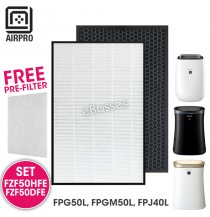 AIRPRO for Sharp FZF50HFE FZF50DFE Replacement Air Purifier HEPA & Deodorizing Filter for FPG50L, FPGM50L, FPJ40L