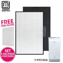 AIRPRO for Panasonic F-ZXCP50X F-ZXCD50X Replacement Air Purifier HEPA Composite + Activated Carbon Filter for F-PXC50A
